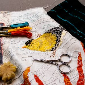 2b. Goldfinch Collage Closeup, A.S.